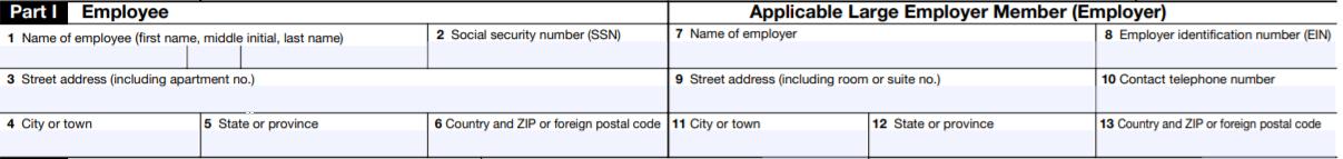 Form 1095-C Part-I