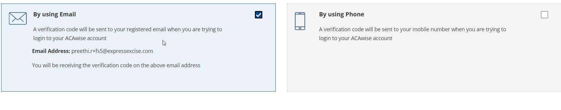ACAwise 2-step verification