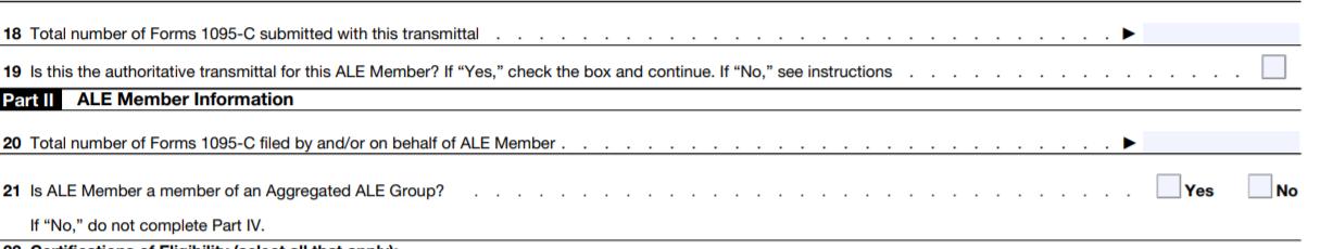Form 1094-C ALE information