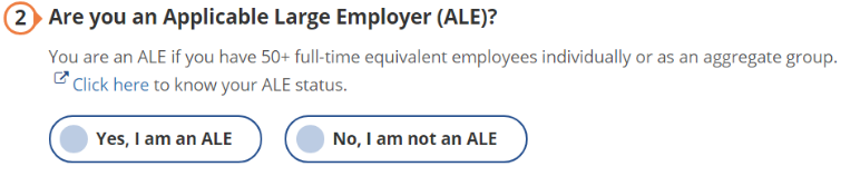 Applicable Large Employer Status