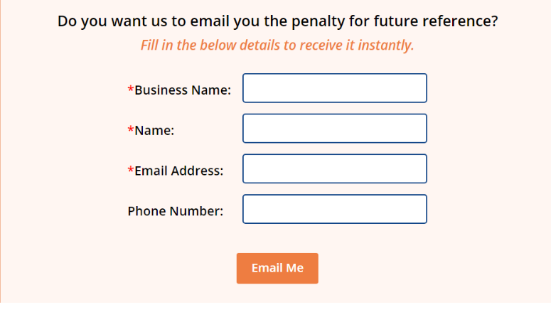 Email the ACA penalty report