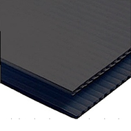 Black Coroplast 4' x 8'