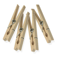 C47 - 50 ct. Classic Spring Wooden Clothespins