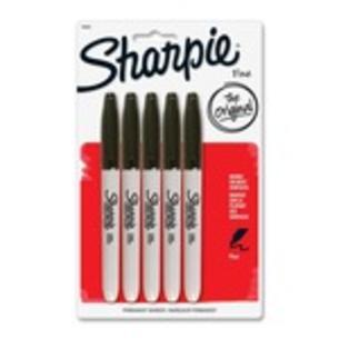 Sharpie Fine-Point Black - 5 Pack