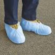 Shoe Covers (non-conductive, non-skid) - 50 pairs (blue/white)
