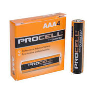 AAA Duracell Procell batteries - 4 Pack