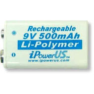 9v Li-ion rechargeable battery - singles