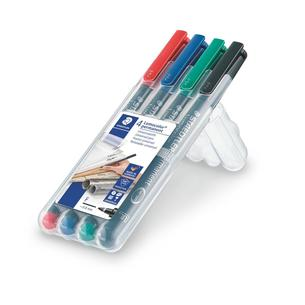 Staedtler Fine-Point Lumocolor Overhead Projection Markers - 4 pk