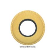 Large Round Chamois Eye Cushions - Natural