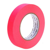 "1"" Fluorescent Pink Paper Tape"