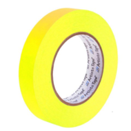 "1"" Fluorescent Yellow Paper Tape"