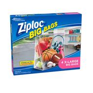 XL Ziploc Bags 10 Gallon 4pk