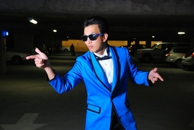 Gangnam style tuxedo blue jacket large article