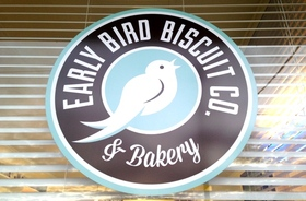 Early bird biscuit logo article