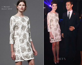 Anne hathaway in j mendel the dark knight rises after party article