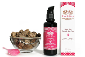 Zweena argan rose lustrous hair elixir article