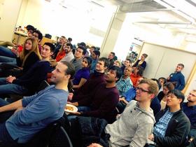 Qualcomm robotics accelerator boston event audience article