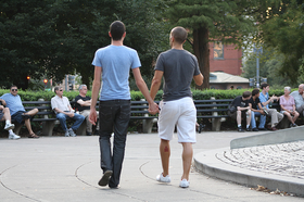 A straight man holding hands with another man for a viral experiment video 832 body image 1421164694 article