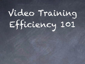 Video training 101 article