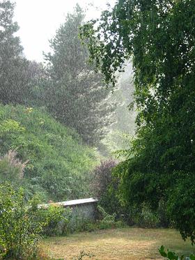 Rain falling article