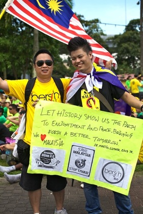 Bersih 3.0 johor bahru article