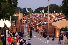 International border at wagah   evening flag lowering ceremony article
