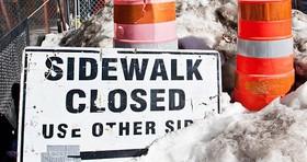 Sidewalkclosed article
