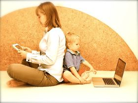 Mother 20and 20son 20using 20various 20gadgets article