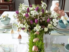 Easy elegant easter table decor article