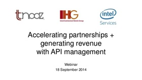 Accelerating partnerships and generating revenue with api management 1 638 article