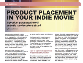 Product placement article