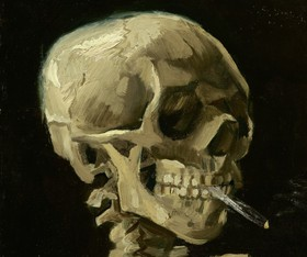 Vincent van gogh   head of a skeleton with a burning cigarette   google art project 700x585 article