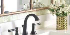 Landscape 1428002565 gold mirror oil rubbed bronze bathroom faucet article