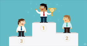 Employees on winners podium gamification features 1290x688 ms article
