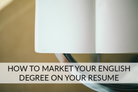 Market your english degree article