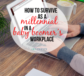 Millennial baby boomer workplace article