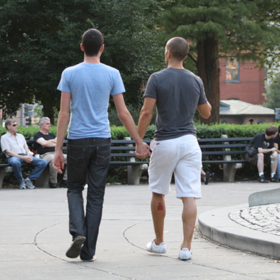 A straight man holding hands with another man for a viral experiment video 832 1421164822 crop social article
