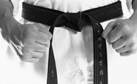 Black belt uniforms article