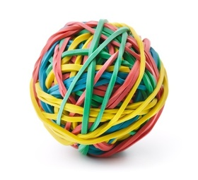 Rubber band ball article