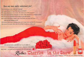 Revlon cherries in the snow ad article