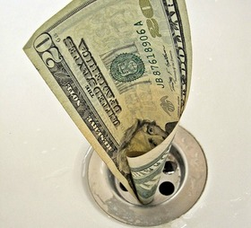 Money down the drain article