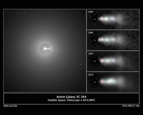 Black hole collision seen by hubble article