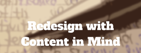 Redesign with content in mind article