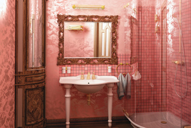 Pink bathroom article