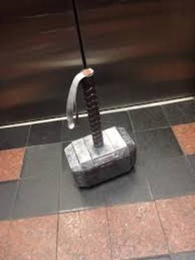 Mjolnir in an elevator article