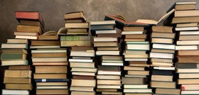 Book piles article