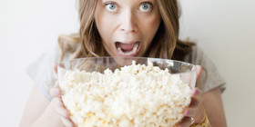 O eating popcorn facebook article