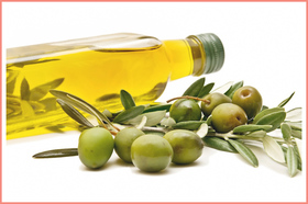 Olive oil face wash article