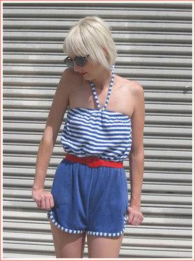 Nautical fashion blue stripes article