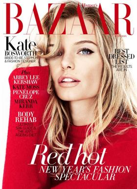 Kate bosworth harpers bazaar january cover article